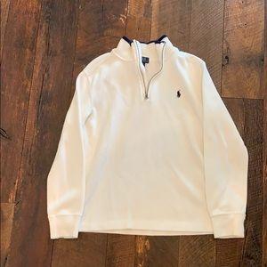 Like new boys white polo sweater